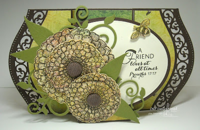 Our Daily Bread Designs, Zinnia, Beautiful Borders, Zinnia and leaves dies, Blooming Garden Paper collection