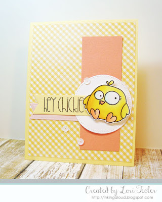 Hey Chickie card-designed by Lori Tecler/Inking Aloud-stamps from Paper Smooches