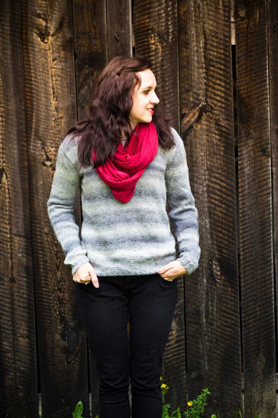 langer oversize pullover strick