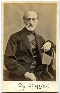 Photographic portrait of Giuseppe Mazzini