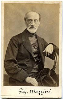 Photographic portrait of Giuseppe Mazzini