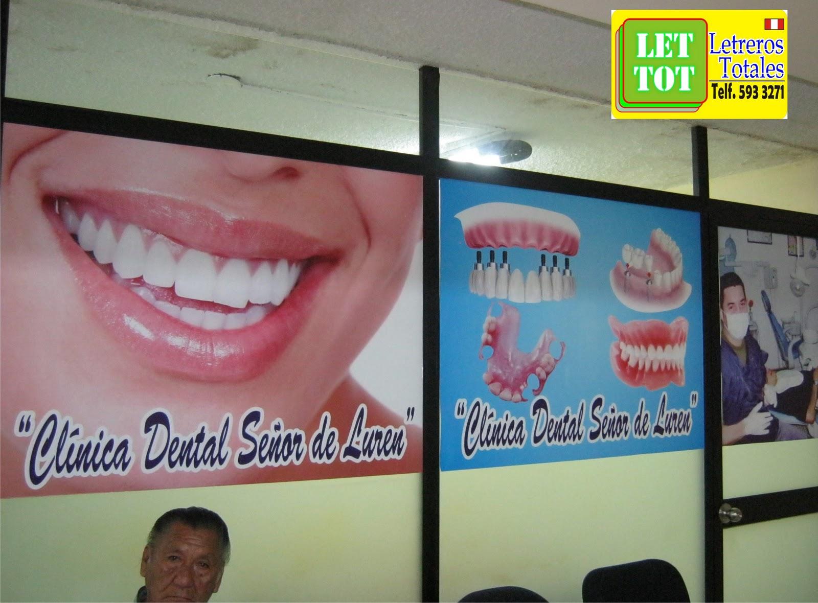 Letreros totales decoracion de consultorio con vinil - Decoracion clinica dental ...