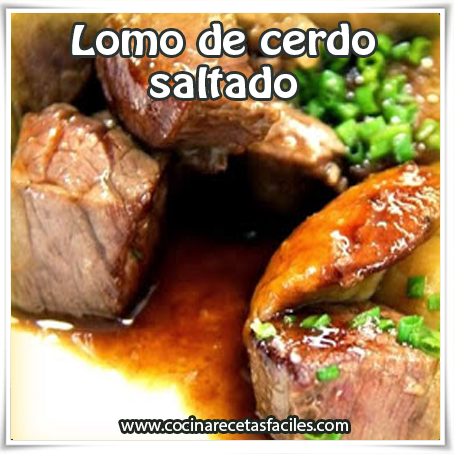 Recetas de carnes ,  receta de lomo de cerdo saltado , receta de comida de lomo cerdo