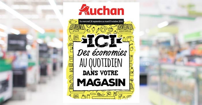 Catalogue Auchan Du 26 Septembre Au 9 Octobre 2018