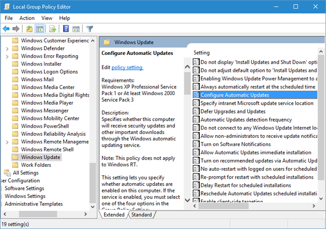 how to get to local group policy editor