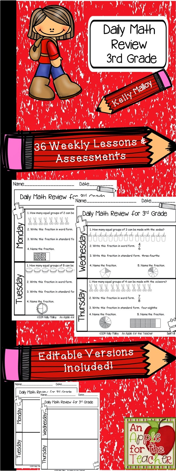 small resolution of An Apple For The Teacher: Daily Math Review