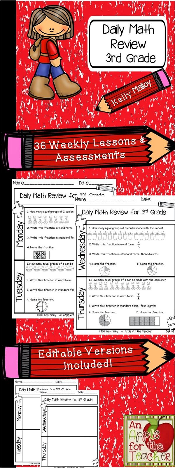medium resolution of An Apple For The Teacher: Daily Math Review