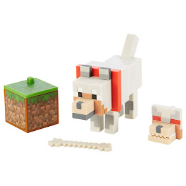 Minecraft Wolf Survival Mode Figure