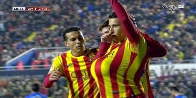 Copa Del Rey : Levante 1 vs 4 Barcelona 22-01-2014