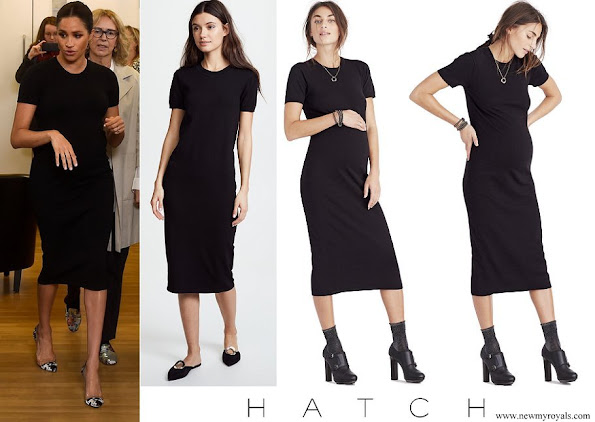 Meghan Markle wore Hatch Eliza dress, Eliza dress by maternity brand Hatch