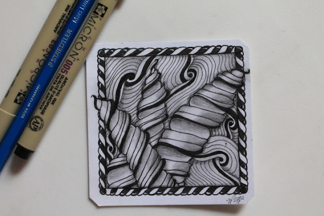 zentangle narwal