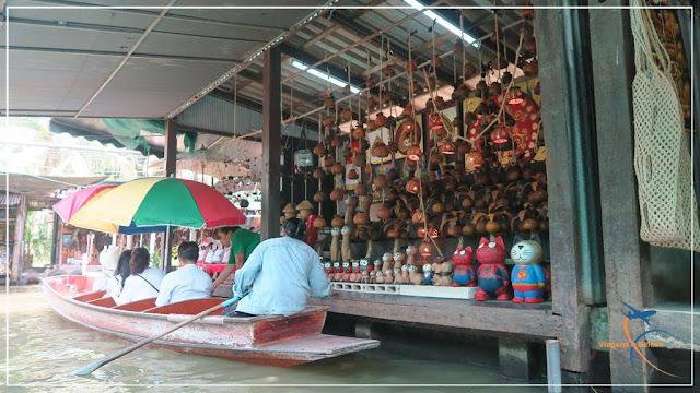 Como é o Mercado Flutuante, em Bangkok