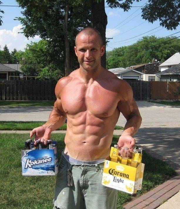 hot-bald-muscle-daddy-drinking-beer-shirtless