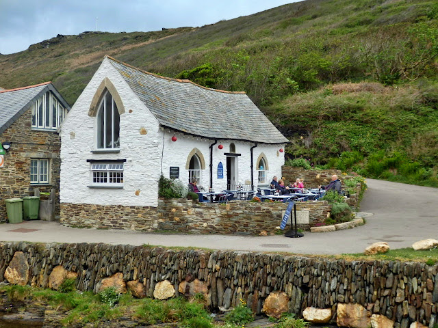 Cafe at Boscastle, Cornwall