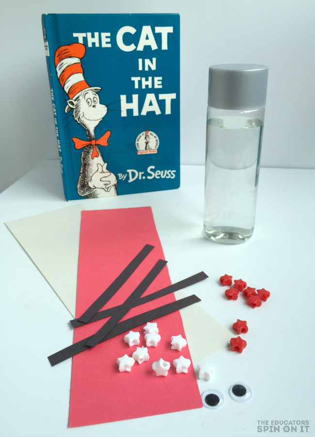 The Cat In The Hat Inspired Sensory Bottle Craft The Educators