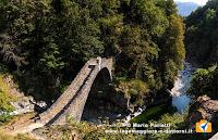 Ponte Romano e fiume Melezza a Intragna