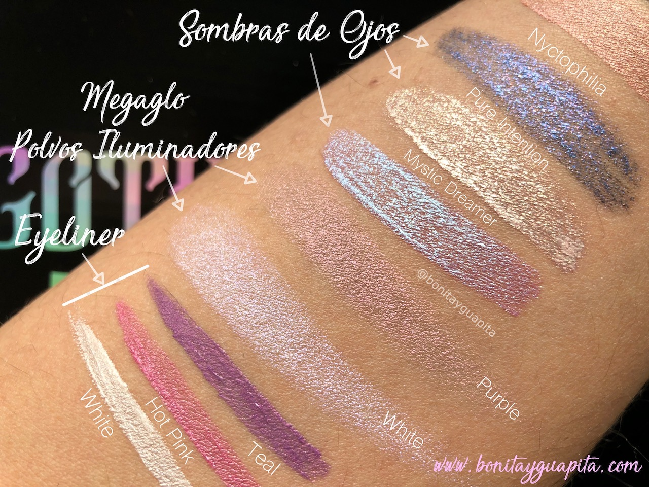 Goth O Graphic de Wet n Wild swatches