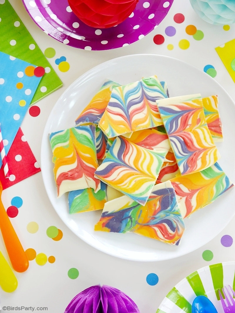 Rainbow Chocolate Bark Recipe 2 Ways
