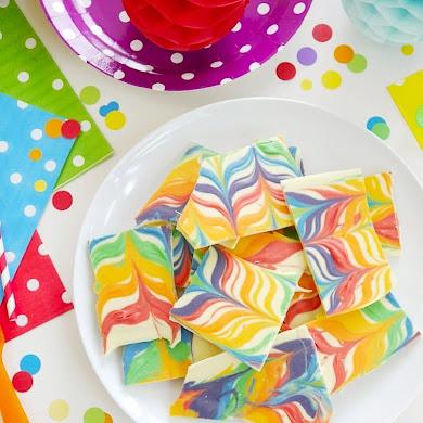 Rainbow Chocolate Bark Recipe 2 Ways