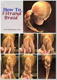 How To three strand braiding the following basic commands and steps