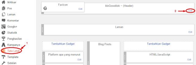 Cara Mengganti Header dengan Gambar atau Logo pada Blogspot