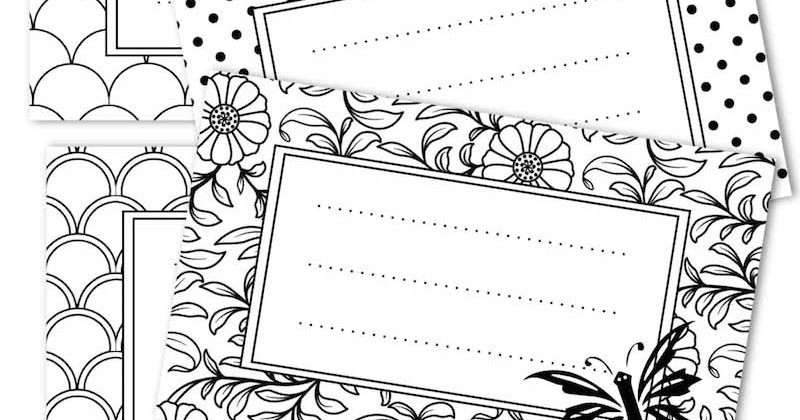 Free printable tags black and white - ausdruckbare ...