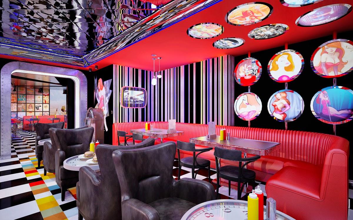 ДИЗАЙН ЗАКУСОЧНОЙ И БАРА BETSY'S DINER & BAR Екатеринбург DULISOV Дулисов кофейня кафе DESIGN EKATERINBURG INTERIOR интерьер проект ресторан зал HoReCa