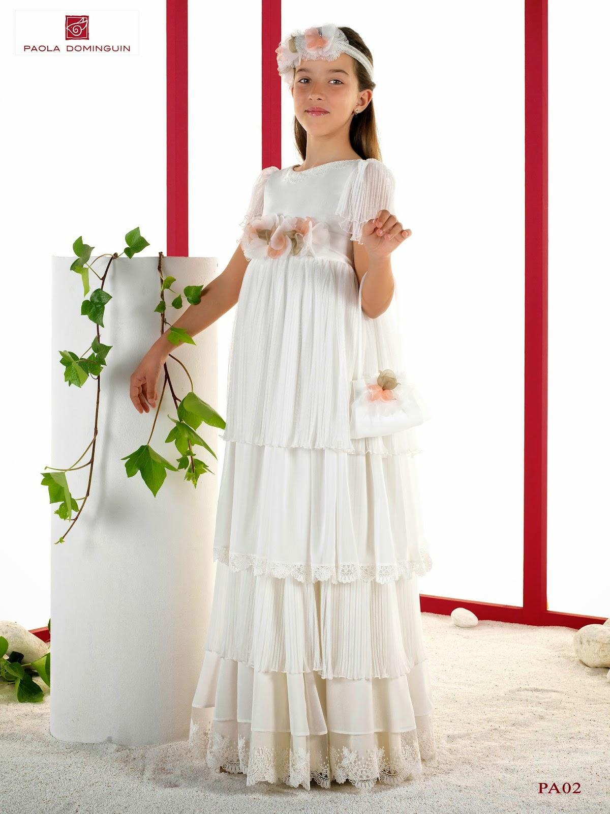 3c58044726 Paola Dominguín nos sorprende a todos con el lanzamiento al mercado de su  primera colección de vestidos de primera comunión