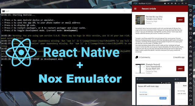 react native with nox emulator