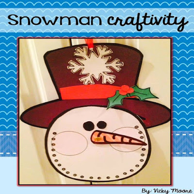 snowman countdown craft