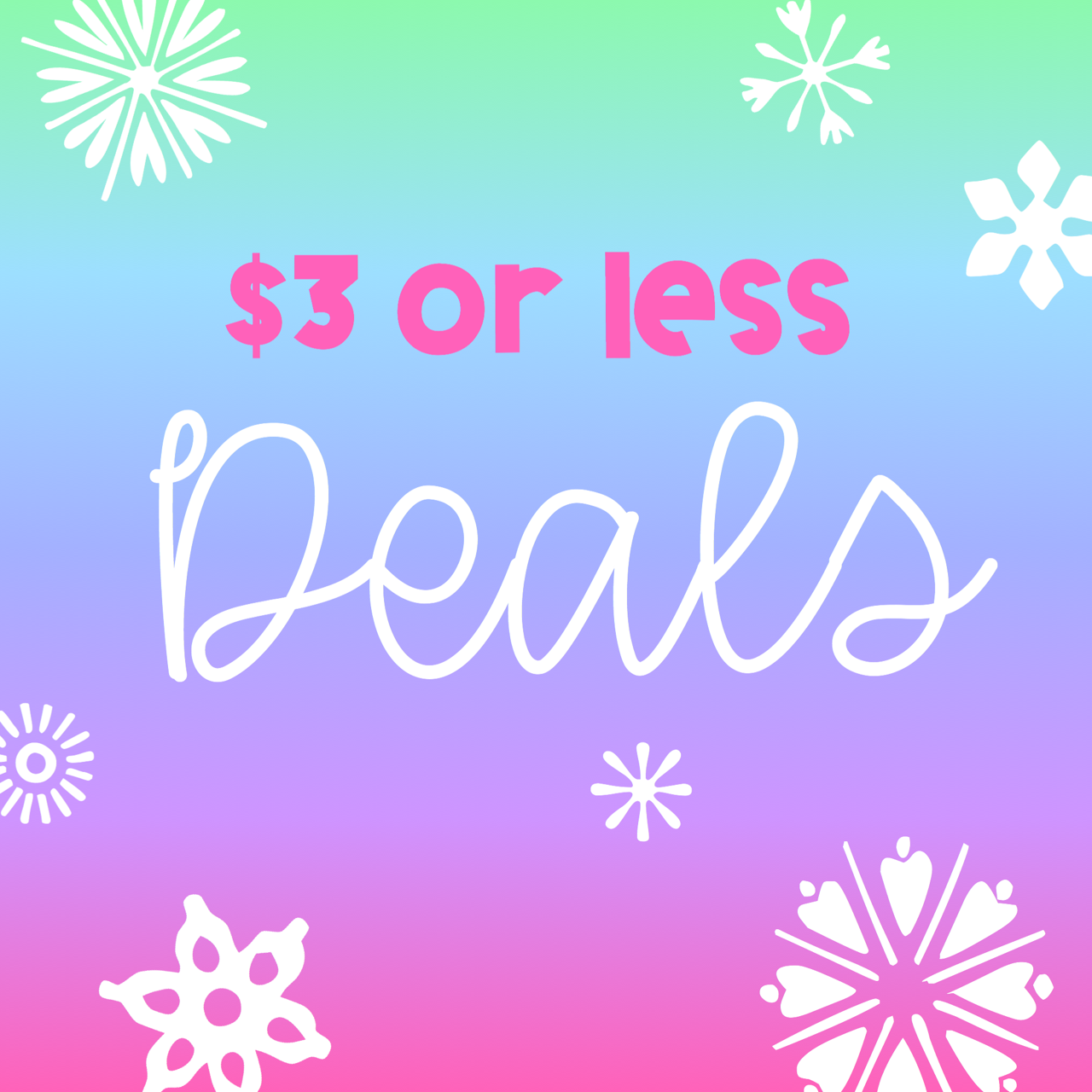 Lisa Goodell 3 Or Less Christmas Themed Deals That Won