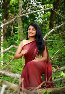 Esther Anil Hot in Saree
