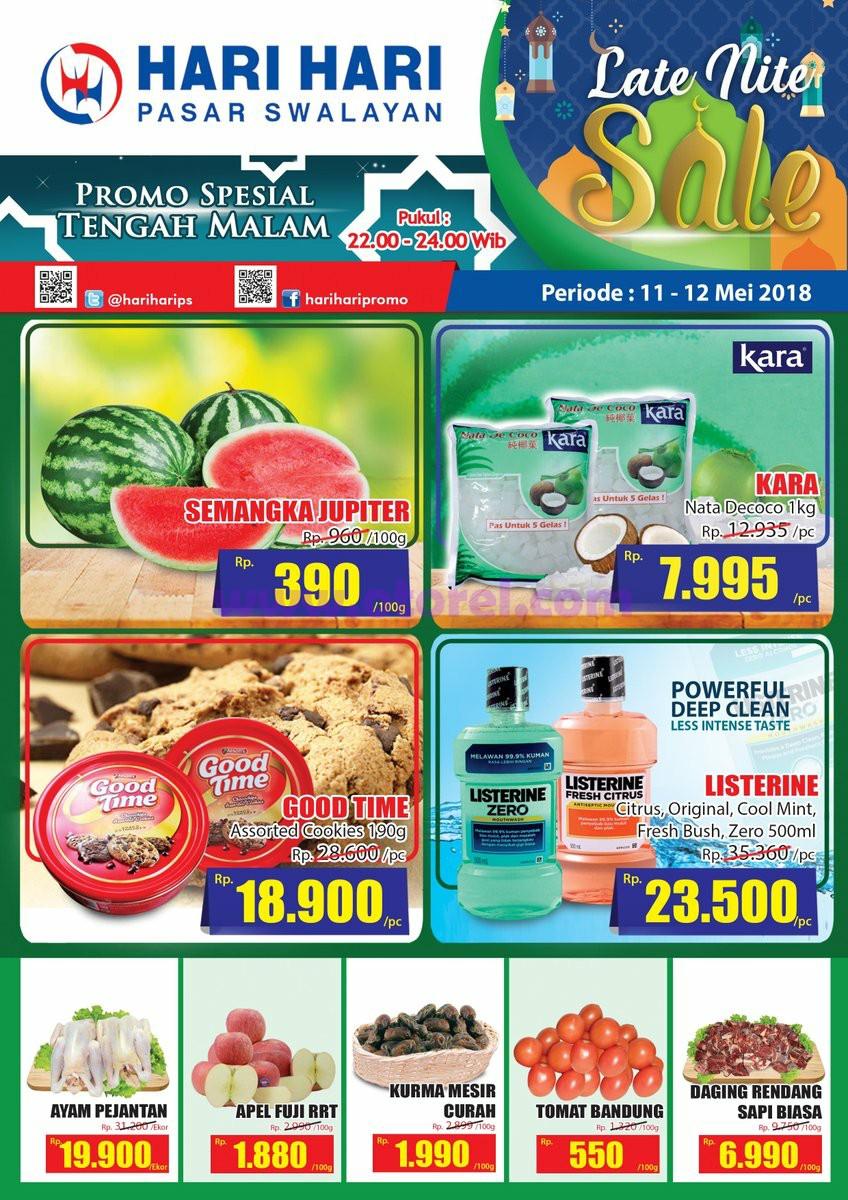 Hari Hari Pasar Swalayan Promo Midnight Sale 11 – 12 Mei 2018