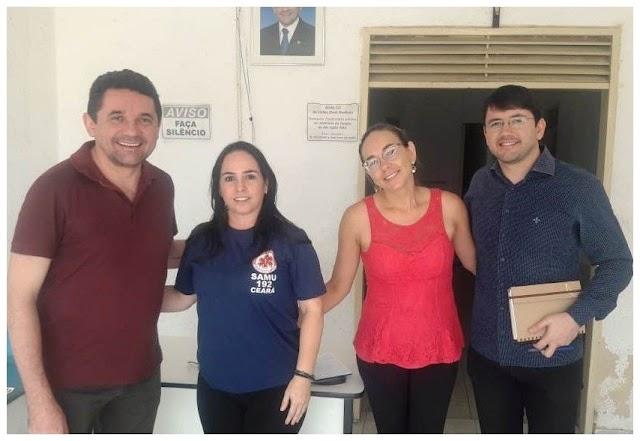 Prefeito de Milagres realiza visita técnica nas futuras instalações da base do Samu