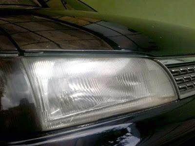Headlamp Great Corolla tahun 94 hasil memoles sendiri.