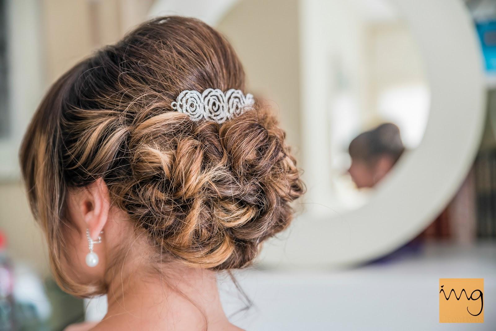 Fotografía del peinado de boda