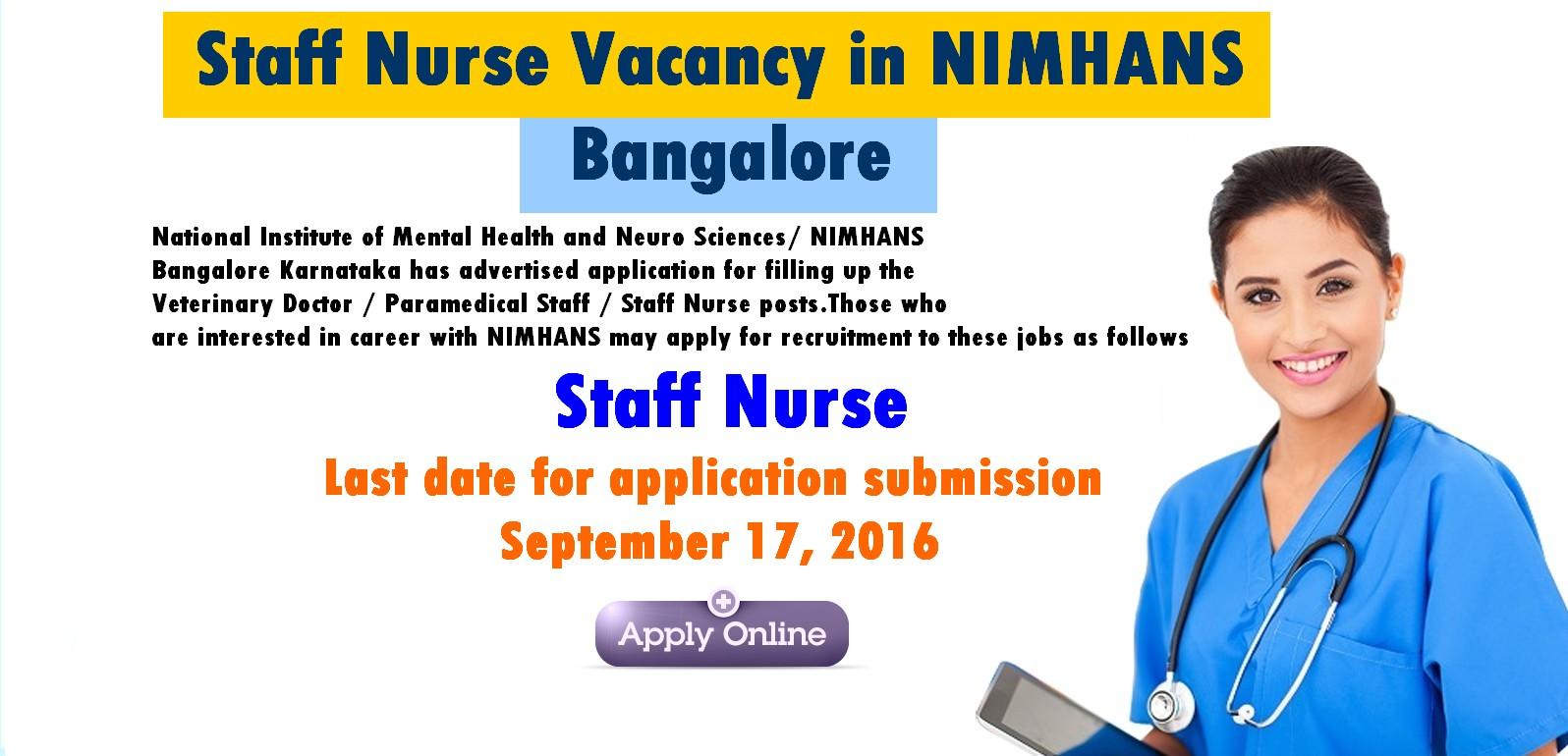 Nurses JOB Vacancy: Staff Nurse Vacancy in NIMHANS ...