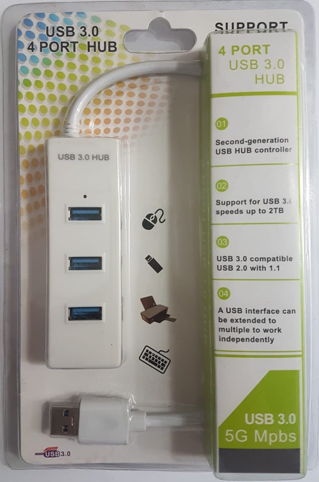 USB hub 3.0 4 port white color
