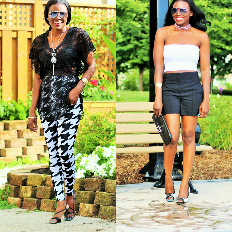 The Classic Black & White Outfit: 2 Summerlicious Ways