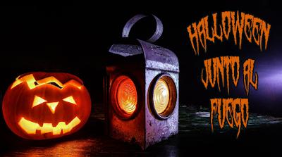 Halloween junto al fuego