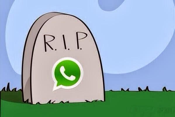 RIP WhatsApp - Fonte/Reprodução: https://twitter.com/Seunglii/status/437321382314008576/photo/1