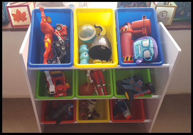 Toy Storage Unit ideal for capturing all the smaller toys and party bag contents