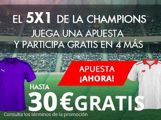 suertia promocion champions Leicester vs Sevilla 14 marzo