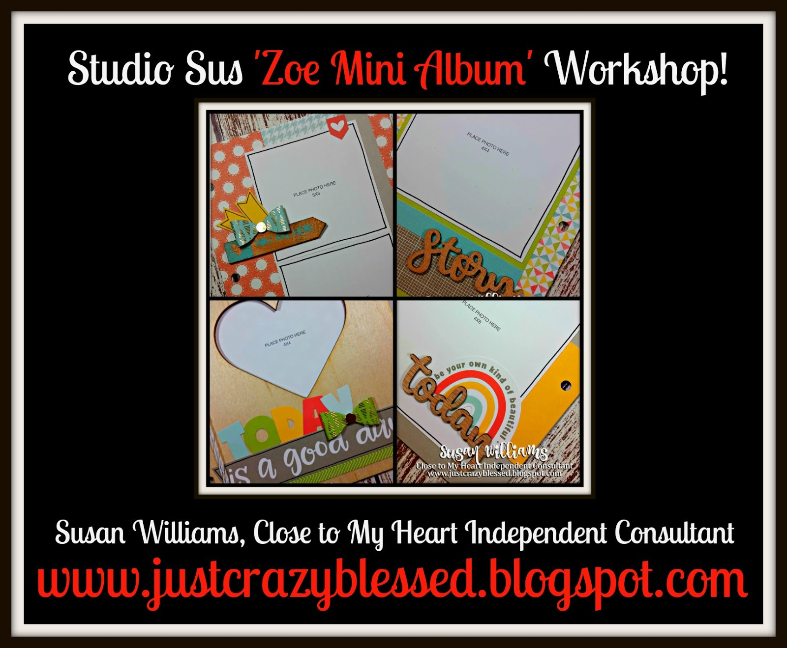 'Zoe' (27) Page Mini Album Workshop!