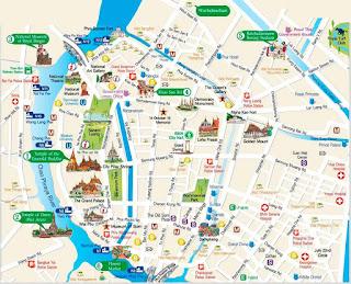 Mapa de Bangkok.