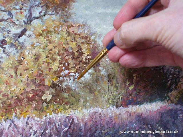 hampshire artist close up oil painting at work