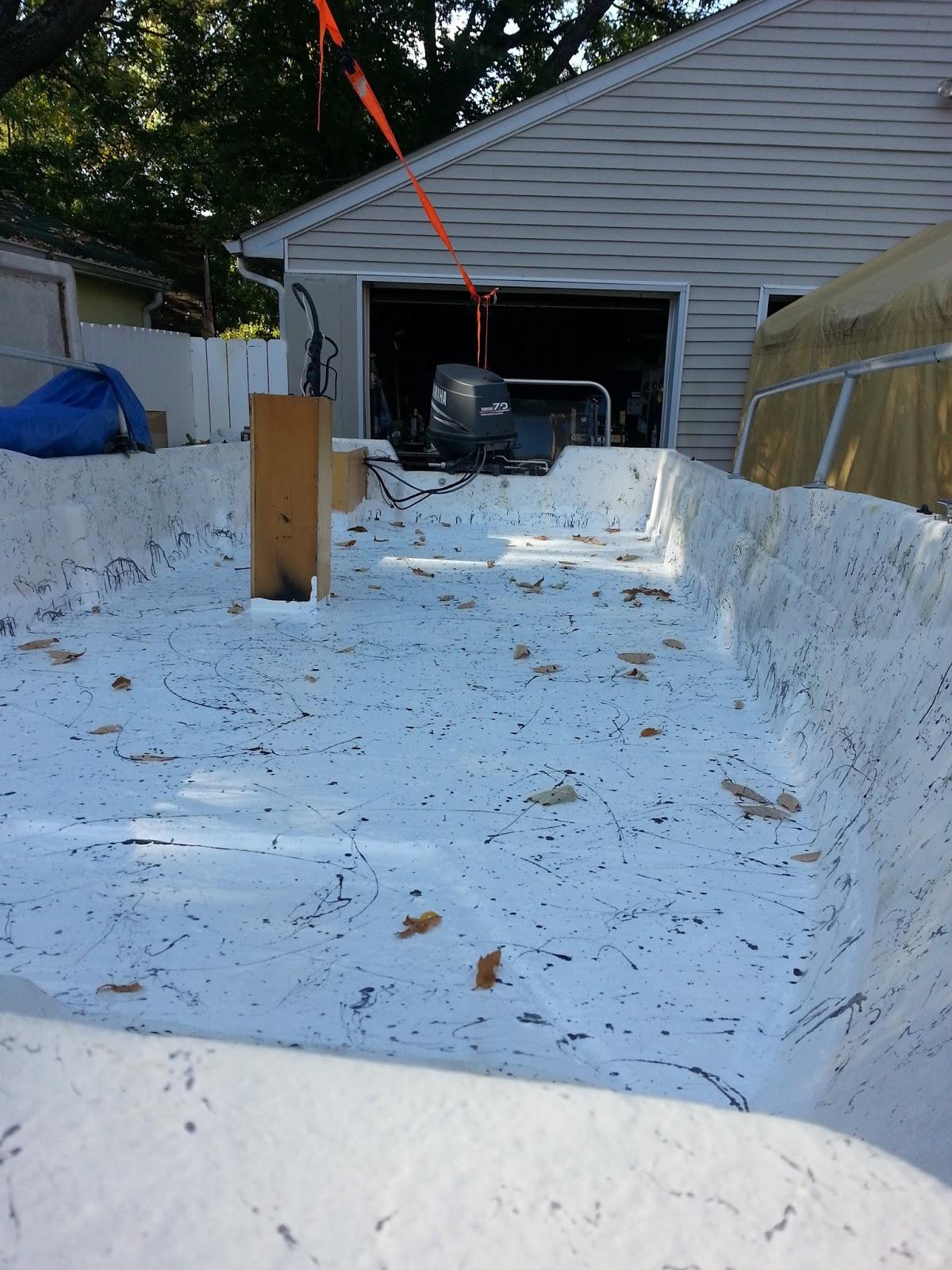 Repairing a deck on a fiberglass boat Seagull Nautico 18 ...