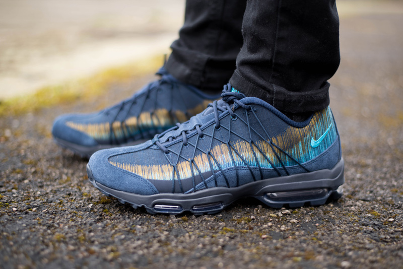 24e76bb50c Nike Air Max 95 Ultra Jacquard in Obsidian Navy Review | The Style Rawr