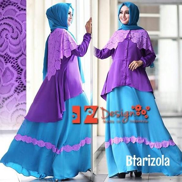 Trend Fashion Anak Muda 2016 Baju Muslim Gaun Pesta Kombinasi