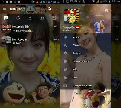 BBM MOD Doraemon Terbaru with Change Background v3.0.1.25 APK